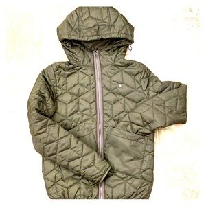 G-Star// Guilted hooded jacket